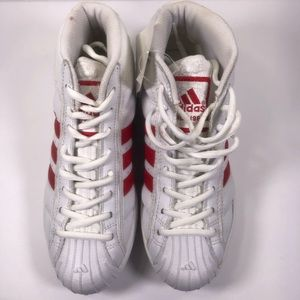 1998 Adidas Women's Pro Model Red White Shoes